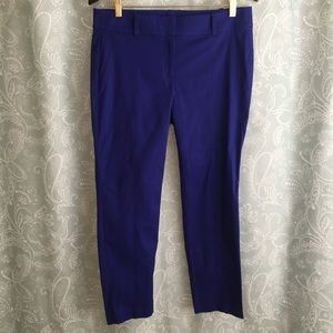 Ann Taylor 8 Carnegie Cropped Pants $68 New blue